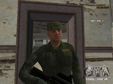 O exército russo moderno para GTA San Andreas décimo tela