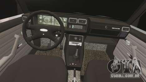UTILIZANDO-Lada 2107 para GTA 4 vista interior