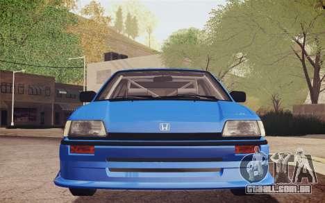 Honda Civic S 1986 IVF para vista lateral GTA San Andreas