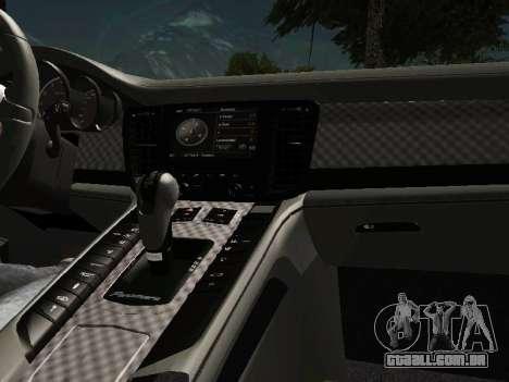 Porsche Panamera 2011 para GTA San Andreas vista interior