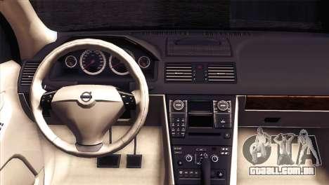 Volvo XC90 2009 para GTA San Andreas vista traseira