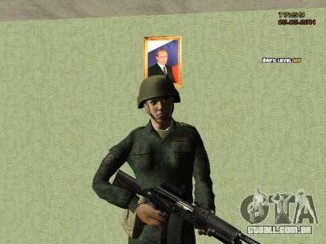 O exército russo moderno para GTA San Andreas quinto tela