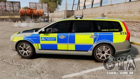 Volvo V70 ANPR Interceptor [ELS] para GTA 4 esquerda vista