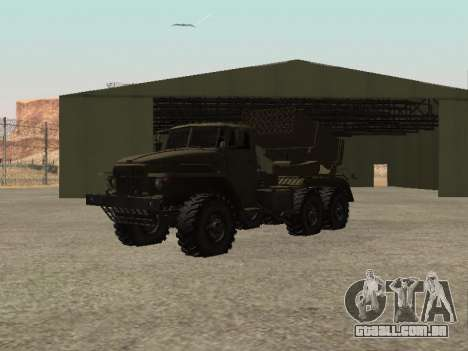 Ural 375 BM-21 para GTA San Andreas vista direita