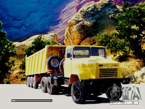 Arranque telas Soviética Caminhões para GTA San Andreas por diante tela