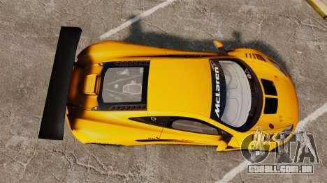 McLaren MP4-12C GT3 (Updated) para GTA 4 vista direita