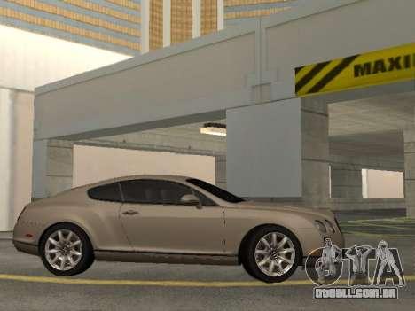 Bentley Continental Supersports para GTA San Andreas traseira esquerda vista