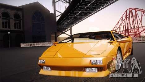 Lamborghini Diablo Stretch para GTA San Andreas traseira esquerda vista