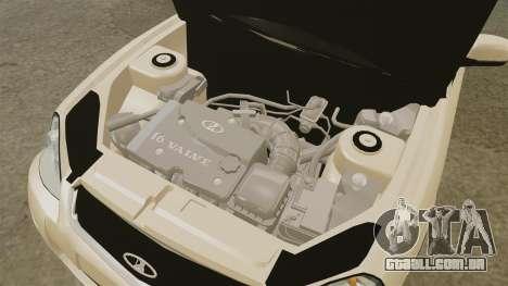 ВАЗ-2170 Instalado Antes do para GTA 4 vista interior