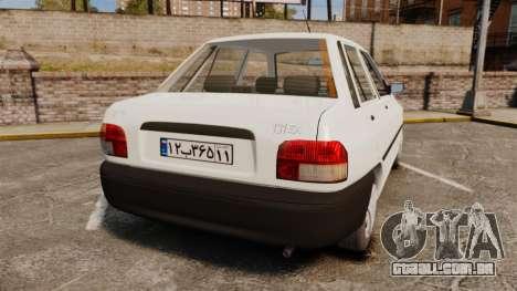 Kia Pride 131 EX para GTA 4 traseira esquerda vista