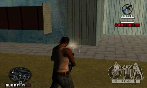 C-HUD Quentin para GTA San Andreas por diante tela
