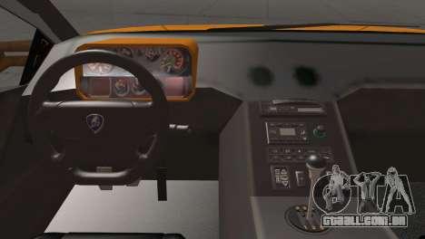 Lamborghini Diablo Stretch para GTA San Andreas vista traseira