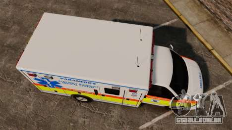 GMC Savana 2005 Ambulance [ELS] para GTA 4 vista direita