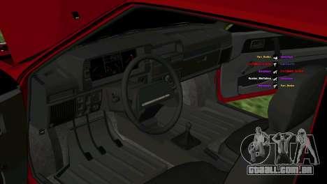VAZ-2108 para vista lateral GTA San Andreas