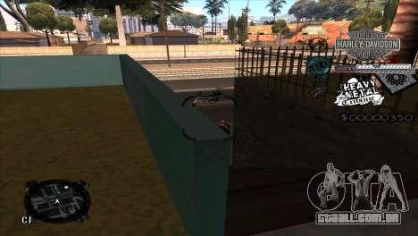 C-Hud Heavy Metal para GTA San Andreas terceira tela