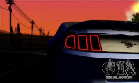 Ford Mustang GT 2013 v2 para GTA San Andreas vista traseira