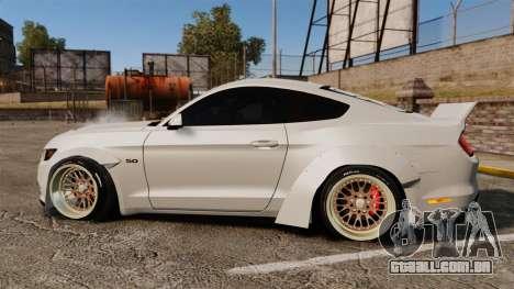 Ford Mustang 2015 Rocket Bunny TKF para GTA 4 esquerda vista