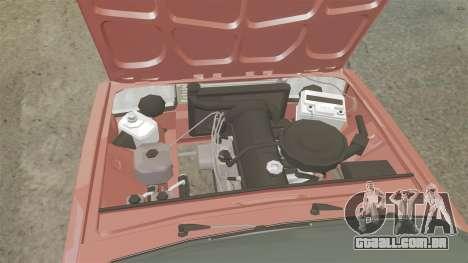 VAZ-2107 Donk Estilo para GTA 4 vista interior