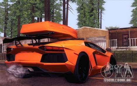 Lamborghini Aventador LP 700-4 para GTA San Andreas esquerda vista