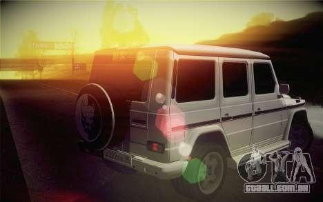Mercedes-Benz G55 AMG para GTA San Andreas esquerda vista
