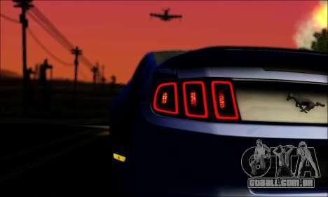 Ford Mustang GT 2013 v2 para GTA San Andreas vista interior