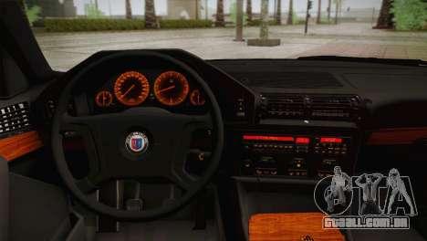 BMW E34 Alpina B10 para GTA San Andreas vista traseira