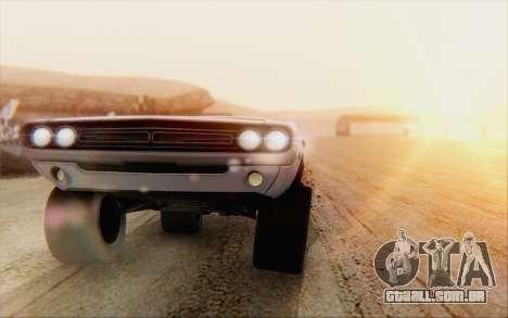 Dodge Challenger 1971 Aftermix para GTA San Andreas traseira esquerda vista