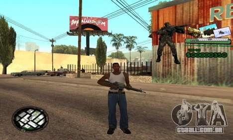 C-HUD Army Troops para GTA San Andreas segunda tela