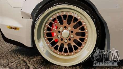 Ford Mustang 2015 Rocket Bunny TKF para GTA 4 vista de volta
