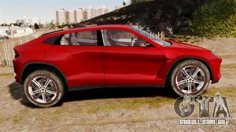 Lamborghini Urus LP840 2015 para GTA 4 esquerda vista