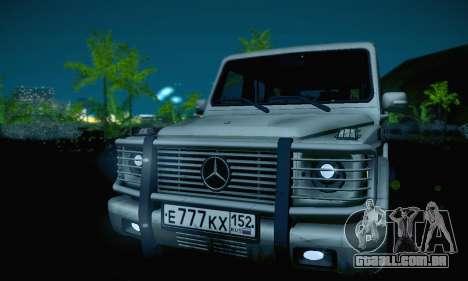 Mercedes-Benz G500 para GTA San Andreas vista superior