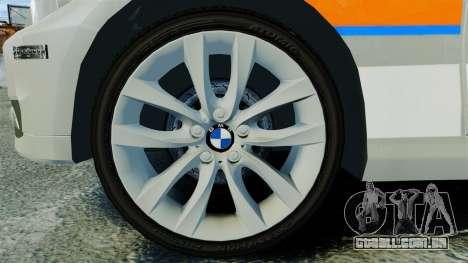 BMW 330i Touring Metropolitan Police [ELS] para GTA 4 vista de volta
