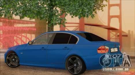 BMW 330i para GTA San Andreas esquerda vista
