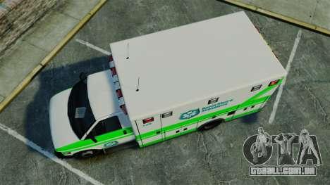 Brute Rural Metro EMS [ELS] para GTA 4 vista direita