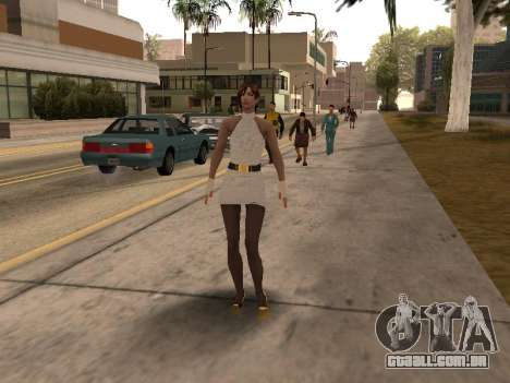 Menina vestido branco para GTA San Andreas terceira tela