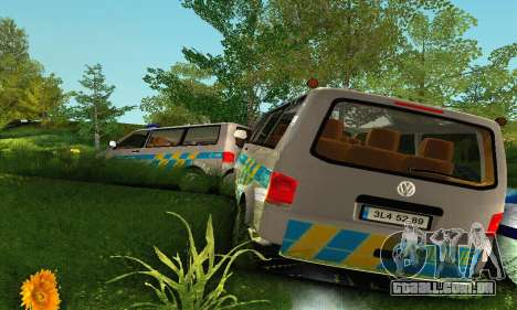 Volkswagen Transporter Policie para GTA San Andreas vista superior