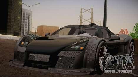 Gumpert Apollo Sport V10 para GTA San Andreas vista traseira
