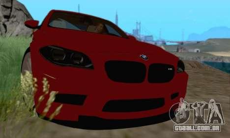 BMW M5 F10 v1.1 para GTA San Andreas esquerda vista