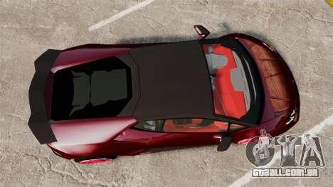 Lamborghini Huracan 2014 Oakley Tuning para GTA 4 vista direita