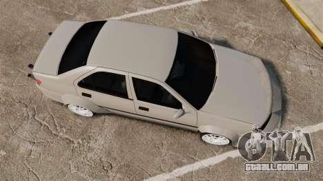 Peugeot 406 v2.0 para GTA 4 vista direita