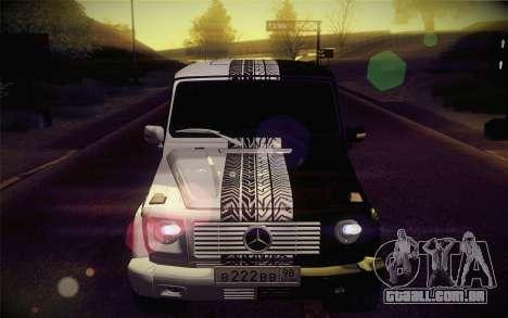 Mercedes-Benz G55 AMG para GTA San Andreas vista interior