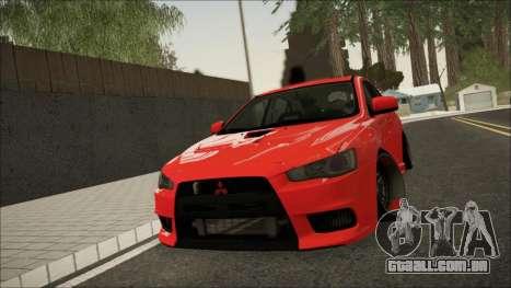 Mitsubishi Lancer X para GTA San Andreas