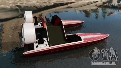 Catamarã-Jetmax Aero- para GTA 4 esquerda vista