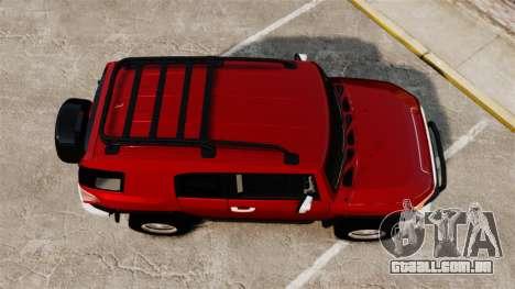 Toyota FJ Cruiser 2012 para GTA 4 vista direita