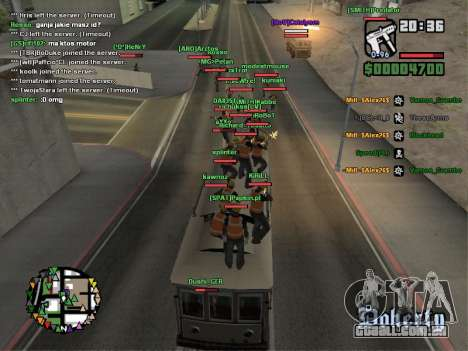 SA-MP 0.3z para GTA San Andreas oitavo tela