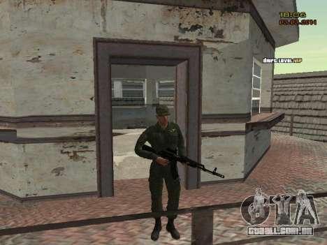 O exército russo moderno para GTA San Andreas oitavo tela