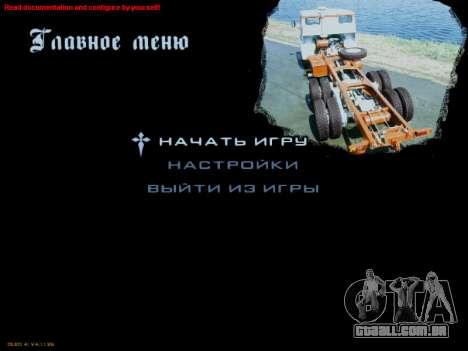 Arranque telas Soviética Caminhões para GTA San Andreas sexta tela
