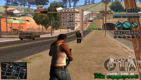 C-HUD Lane Gangsters para GTA San Andreas terceira tela