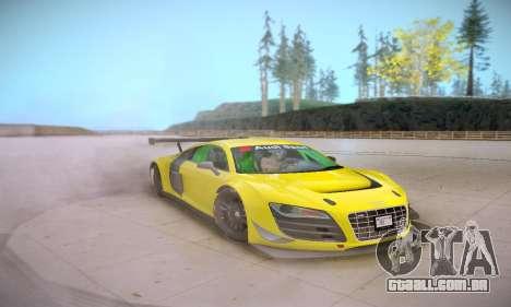 Audi R8 LMS Ultra v1.0.0 para GTA San Andreas vista interior
