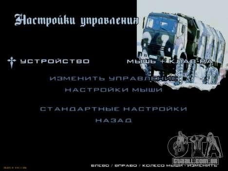 Arranque telas Soviética Caminhões para GTA San Andreas nono tela